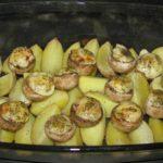 Poslední kontrola upečení brambor